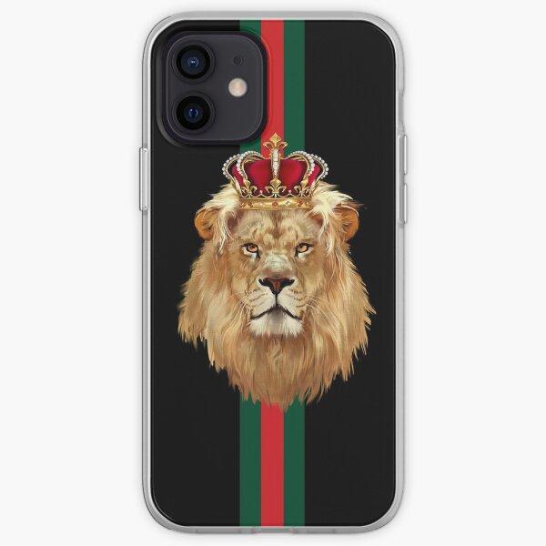 King lion corwn  iPhone Soft Case