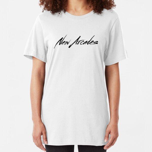New Arcades - Logo (black text) Slim Fit T-Shirt