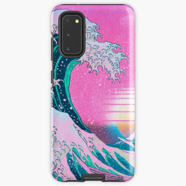 Vaporwave Aesthetic Great Wave Off Kanagawa Retro Sunset Samsung Galaxy Tough Case