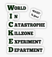 WICKED - The Maze Runner Sticker