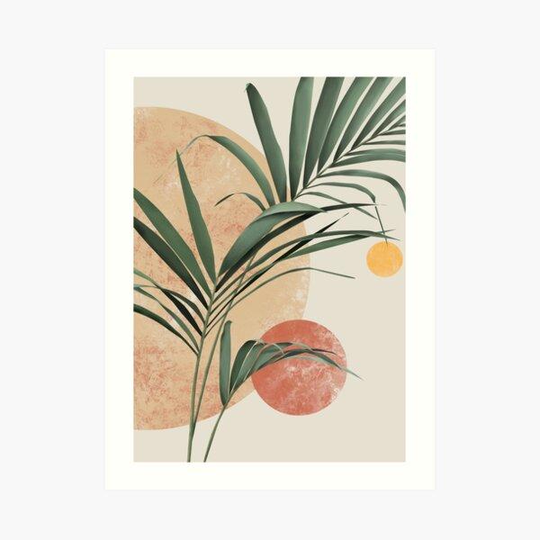Palm leaf boho art Art Print