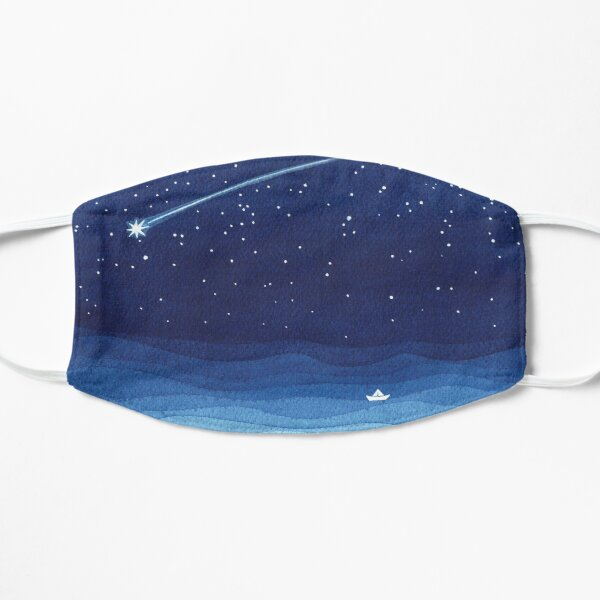 Falling star, shooting star, sailboat ocean waves blue sea Mask