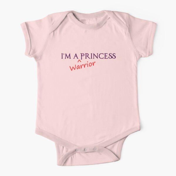 princesa guerrera Body de manga corta para bebé
