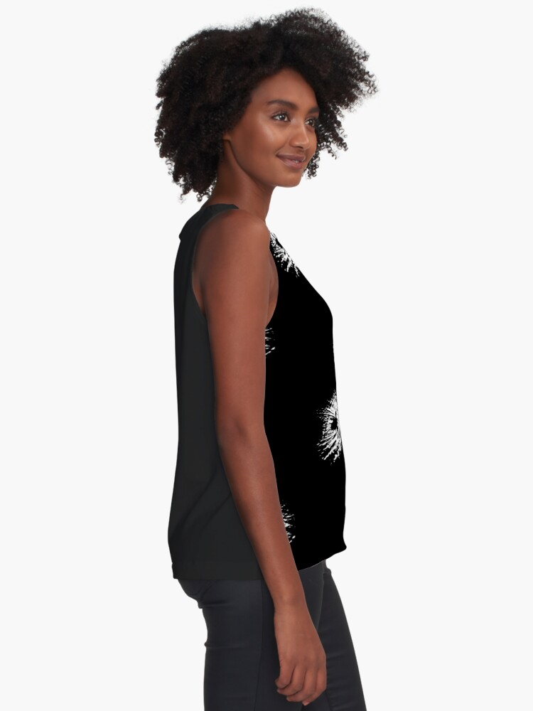 Alternate view of Coot, silhouette as swimming on a pond Sleeveless Top