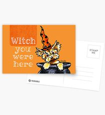 Yorkie Witch You Were Here Postcards