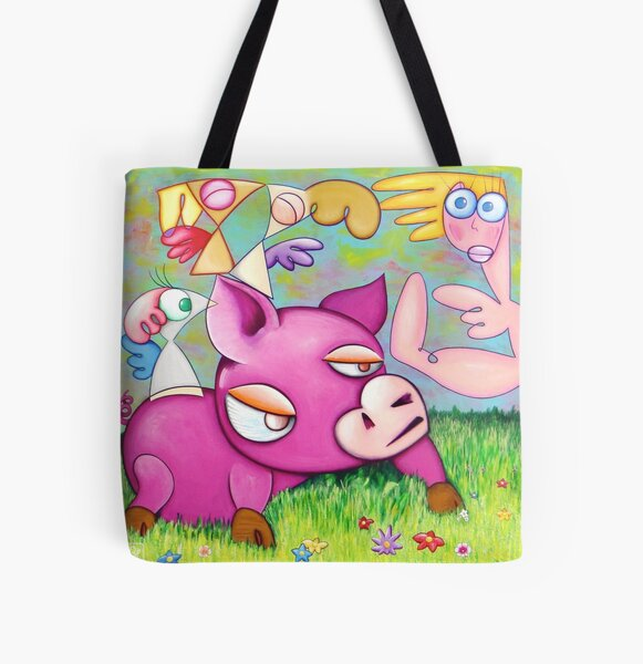 Love falling from the sky All Over Print Tote Bag