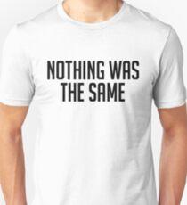 Camiseta ajustada Nada era lo mismo [NEGRO]