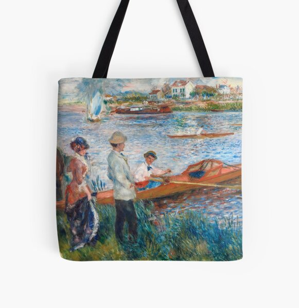 Auguste Renoir - Oarsmen at Chatou All Over Print Tote Bag