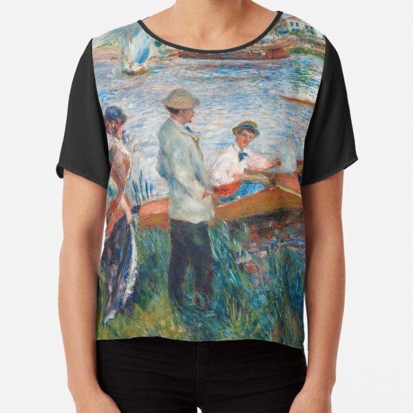 Auguste Renoir - Oarsmen at Chatou Chiffon Top