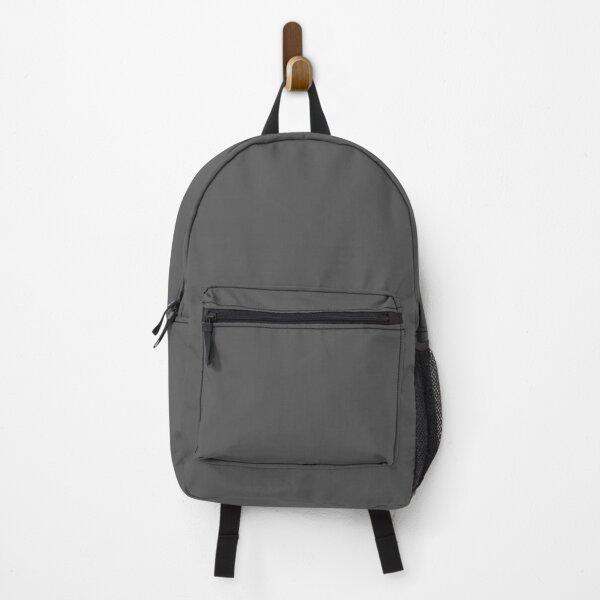 DARK GREY - COLOUR COLLECTION - BLOCK COLOUR Backpack