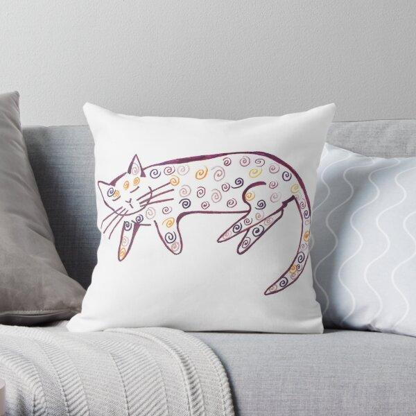 Danish pastry cat Throw Pillow