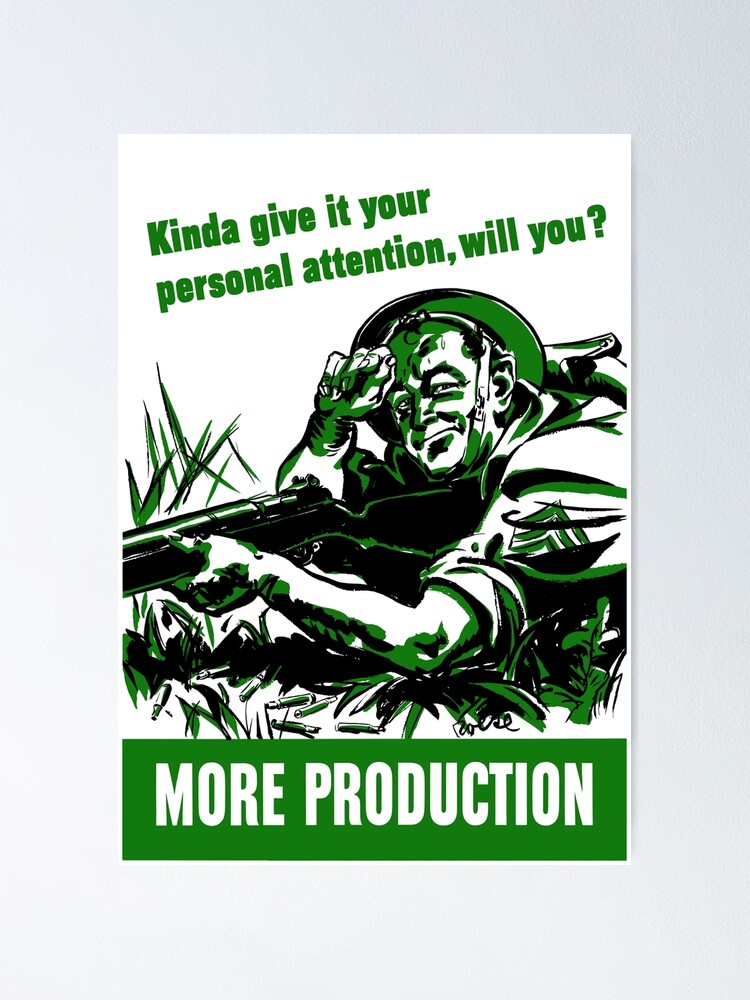 Tell Nobody Not Even Her WW2 Vintage Art Print POSTER