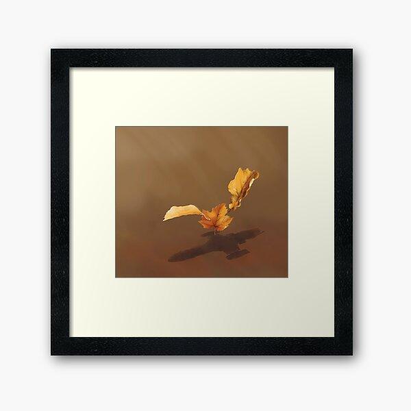 Leaf on the Wind Framed Art Print