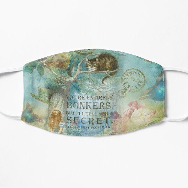 Pays des merveilles - Bonkers Quote - Alice au pays des merveilles Masque sans plis