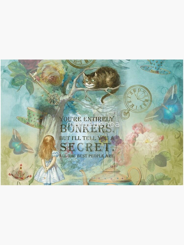 Wonderland - Bonkers Quote- Alice in Wonderland by maryedenoa