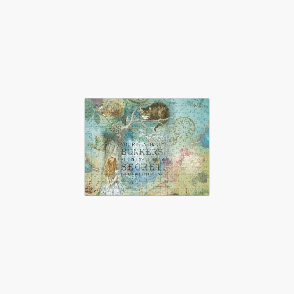 Wonderland - Bonkers Quote- Alice in Wonderland Jigsaw Puzzle