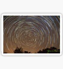 One Hour Star Trail Sticker