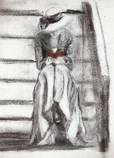Lady Reading by Alephredo Muñoz