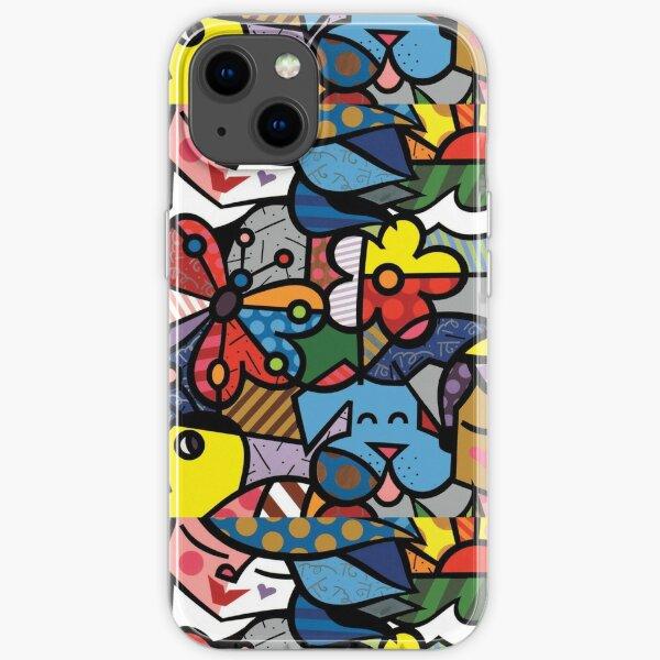 The art of Romero Britto iPhone Soft Case