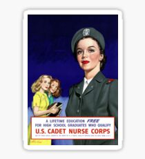 US Cadet Nurse Corps - WW2 Sticker
