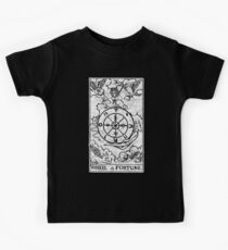 Wheel of Fortune Tarot Card - Major Arcana - fortune telling - occult Kids Tee