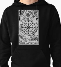 Wheel of Fortune Tarot Card - Major Arcana - fortune telling - occult Pullover Hoodie