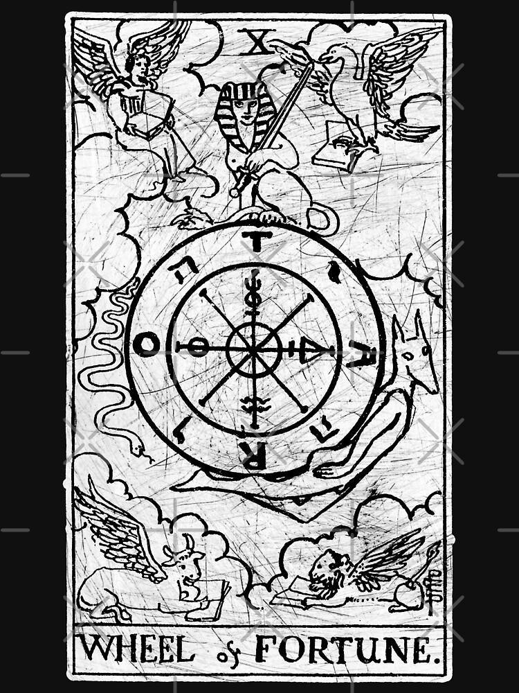 Wheel of Fortune Tarot Card - Major Arcana - adivinación - ocultismo de createdezign