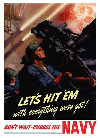 Choose The Navy -- WW2 Recruiting by warishellstore
