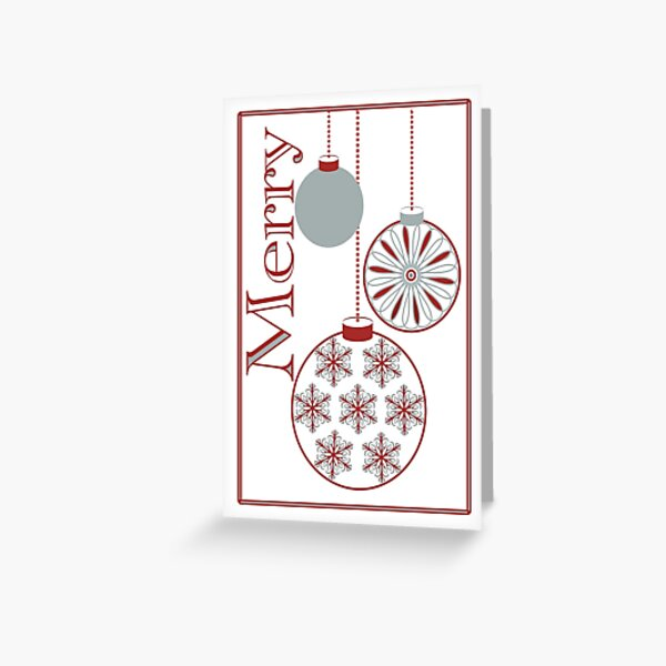 Merry Ornaments Holiday Greeting Card