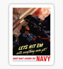 Choose The Navy -- WW2 Recruiting Sticker