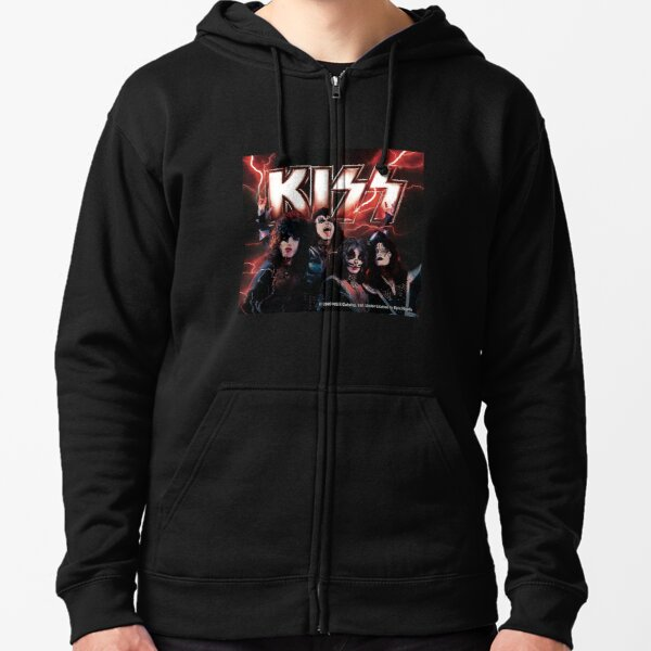 KISS rock music band -  Lightning Zipped Hoodie