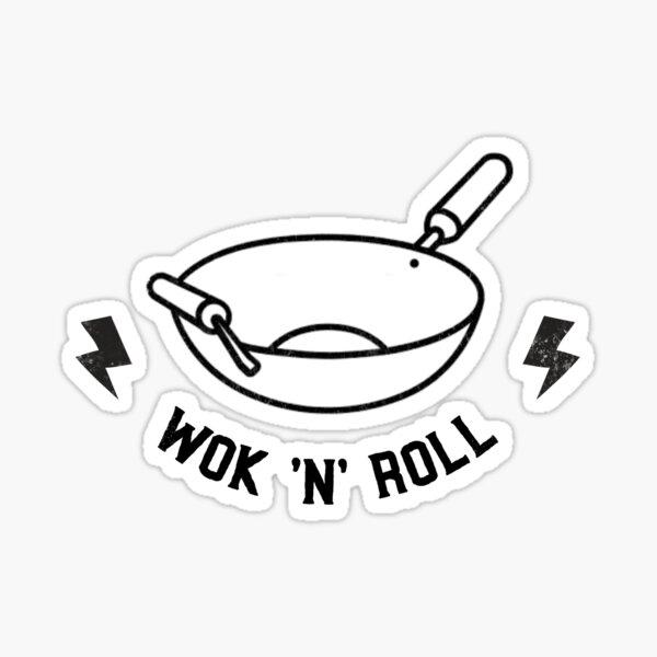 Wok 'N' Roll Sticker