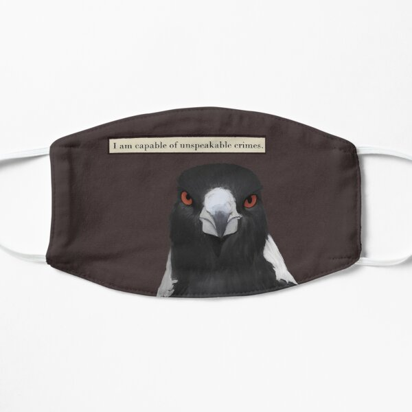 Troubled Magpie Flat Mask