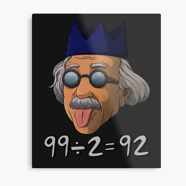 Osrs Wise Old Einstein Metal Print