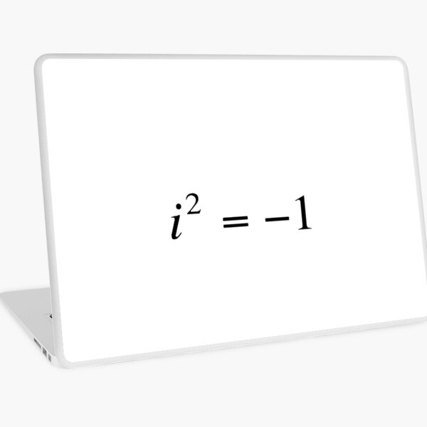 Complex numbers. imaginary. What does it mean? Mathematicians can expand our idea of what numbers are by introducing the square roots of negative numbers Laptop Skin