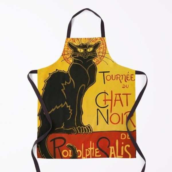 Le Chat Noir The Black Cat Art Nouveau Vintage Apron