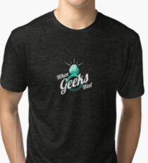 When Geeks Wed Tri-blend T-Shirt