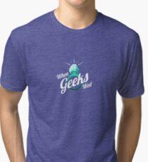 When Geeks Wed Tri-blend T-Shirt
