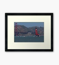 America's Cup Red Hot Framed Print