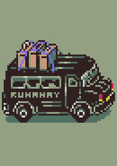 Runaway 5 (Tonzura Brothers) Bus - Earthbound by SophisticatC x Studio Momo╰༼ ಠ益ಠ ༽