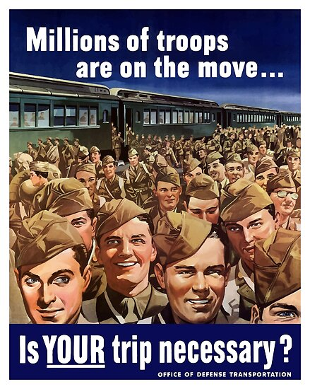 Millions Of Troops Are On The Move... Is Your Trip Necessary? by warishellstore