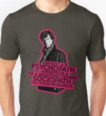 Sherlock - Sociopath not Psychopath T-Shirt