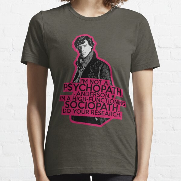 Sherlock - Sociopath not Psychopath Essential T-Shirt