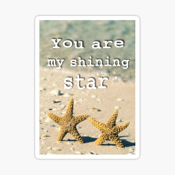 You are my shining star Sticker