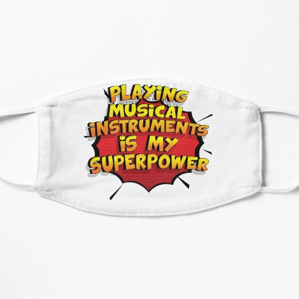 Playing Musical Instruments ist mein Superpower Lustiges Playing Musical Instruments Designgeschenk Flache Maske
