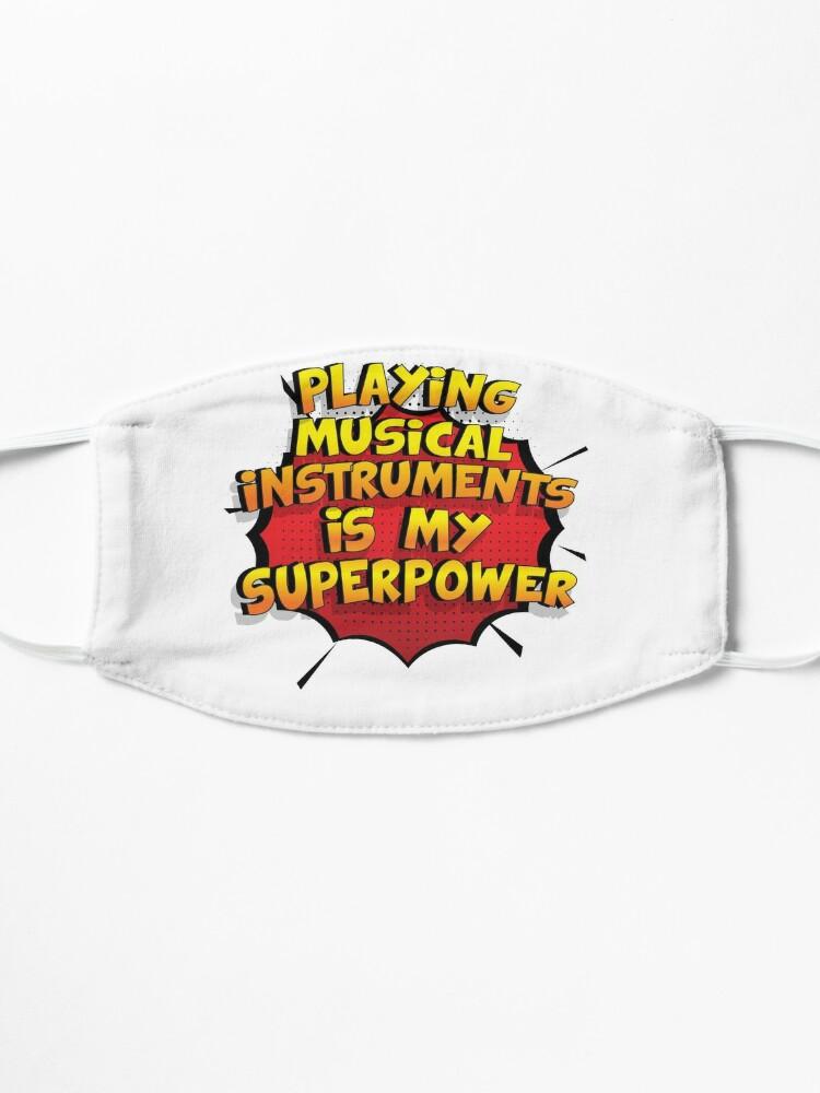 Alternative Ansicht von Playing Musical Instruments ist mein Superpower Lustiges Playing Musical Instruments Designgeschenk Maske