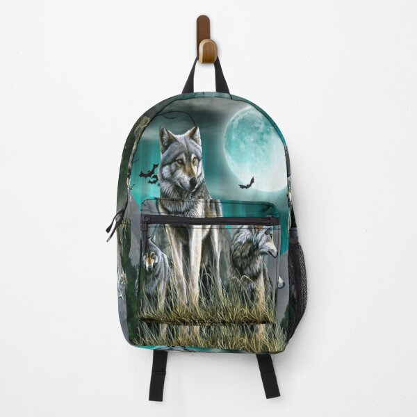 Wolf Lovers Wild Art Backpack