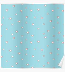 seamless pattern  with many pink heart for holiday Poster