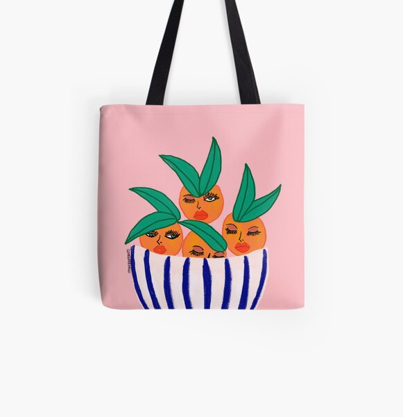 Sassy Oranges In A Bowl All Over Print Tote Bag