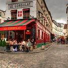 French Lifestyle Scene in Montmartre by MaluC
